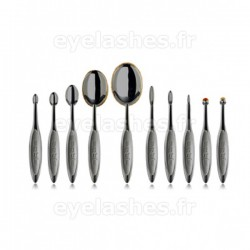 Set de dix pinceaux Elite Smoke by ARTIS BRUSH - 10 pinceaux