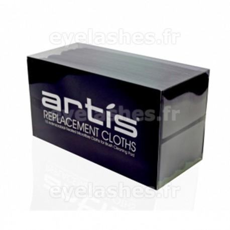 10 lingettes de rechange pour le tampon de nettoyage pour pinceaux Elite Smoke by ARTIS BRUSH - 10 lingettes